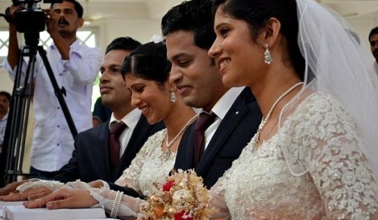 Đám cưới độc đáo của hai cặp song sinh