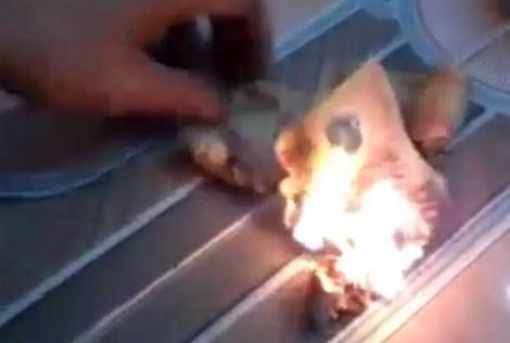 Đề nghị Trung Quốc xử lý khách đốt tiền Việt tại Đà Nẵng