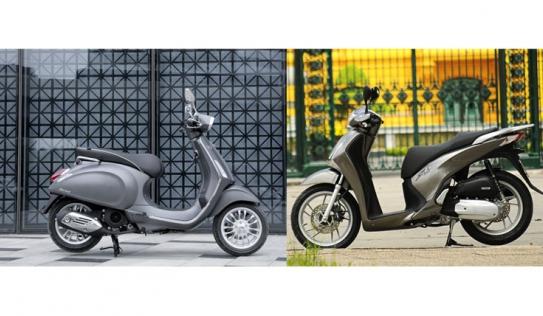 Honda SH 2017 và Piaggio Vespa Sprint 2017 nên chọn dòng xe nào?