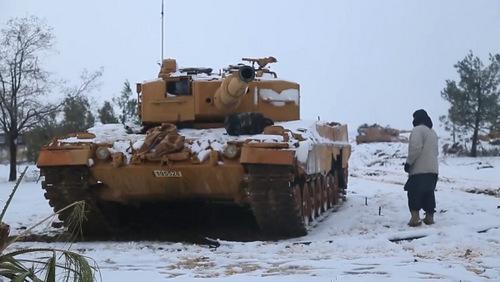 IS chiếm được hai xe tăng  hiện đại nhất của Thổ Nhĩ Kỳ