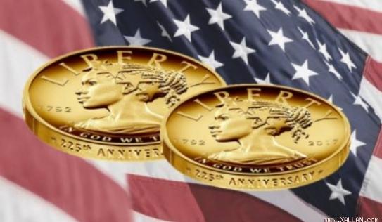 Cục đúc tiền Mỹ công bố đồng xu 100 đôla bằng vàng ròng
