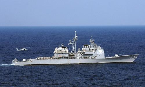 Mỹ triển khai tuần dương hạm tên lửa áp sát vùng biển của Nga