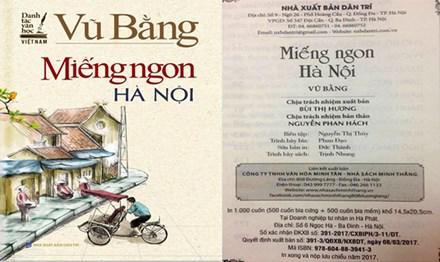 Vụ ấn bản 'Miếng ngon Hà Nội': Chưa dừng ở phạt tiền và đình chỉ