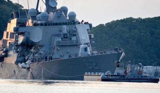 Tìm thấy thi thể 7 thủy thủ Mỹ mất tích ngay trong tàu chiến bị tàu hàng Philippines đâm