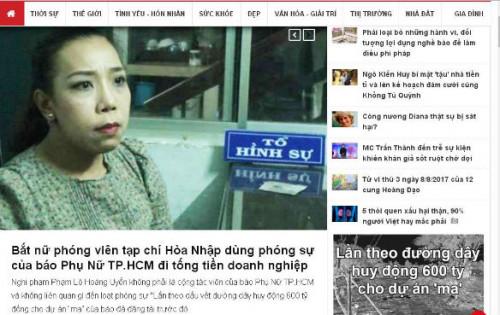 Vụ nữ PV tống tiền doanh nghiệp: 2 Tổng biên tập lên tiếng