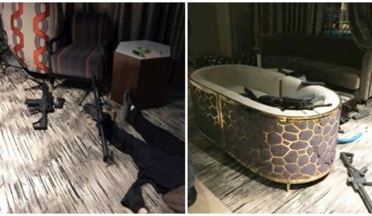 Sốc với hình ảnh bên trong phòng khách sạn của kẻ xả súng Las Vegas