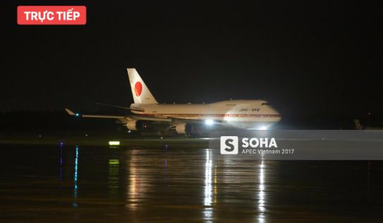 Chuyên cơ Air Force One Nhật Bản đưa thủ tướng Shinzo Abe đến Đà Nẵng tham dự APEC