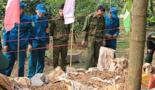 Vụ dân cất giữ gần 6 tấn đầu đạn ở Hưng Yên: Điểm tập kết ngay sau UBND xã