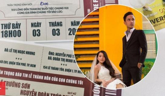Thiệp cưới độc đáo của chàng đạo diễn 9X: Lấy cảm hứng từ vé xem phim, bìa là poster 'Ra Tết cưới vợ'