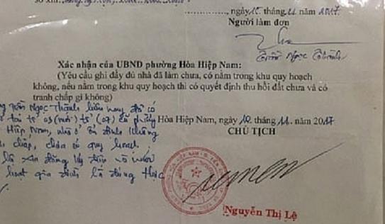 Cán bộ tư pháp giả mạo chữ ký chủ tịch phường để xây nhà trái phép gây xôn xao