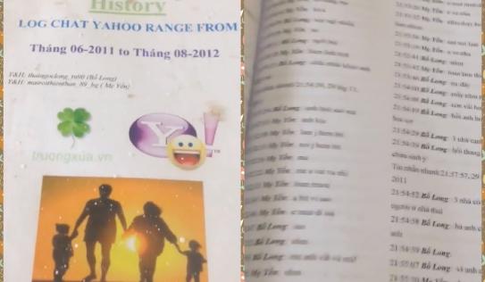Thanh niên in các cuộc chat Yahoo ra thành quyển dày như từ điển để lưu giữ kỷ niệm 'trẻ trâu'