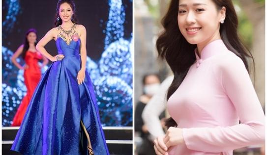 Người đẹp tặng hoa cho tổng thống Trump vào chung kết Hoa hậu Việt Nam