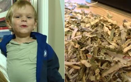 1 phút táy máy, con trai bỏ luôn tiền tiết kiệm trả nợ của bố mẹ vào máy xén giấy