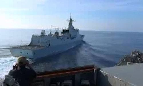 Tiết lộ đoạn video tàu Trung Quốc đe dọa đâm chiến hạm Mỹ trên Biển Đông