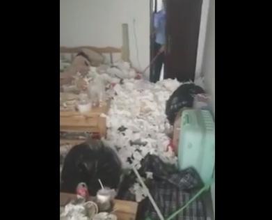 Góc bá đạo: Đã tìm thấy thanh niên ở bẩn 'nhất quả đất', phòng ngập rác