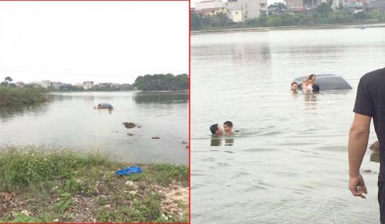 Bi hài: Cho vợ tập lái xe khiến cả gia đình cùng lao xuống hồ