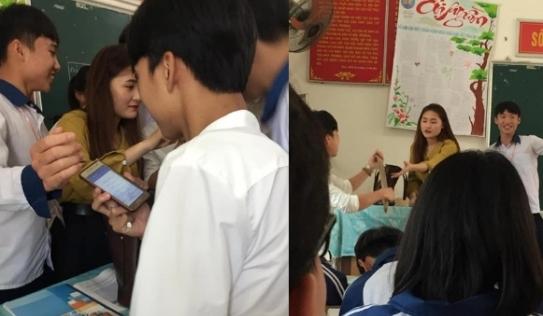 Dân mạng tìm ngay danh tính cô giáo dạy thay xinh xắn bị học trò giật thước, cả lớp xin chụp ảnh cùng