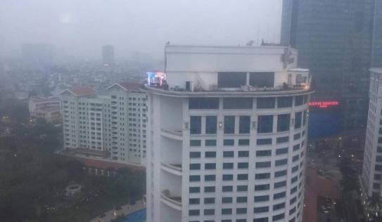 Đài MBC News, KBSNews dựng trường quay trên nóc nhà cao tầng Hà Nội