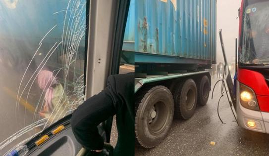 Sự thực câu chuyện tài xế container 'dìu' xe khách mất phanh, cứu 20 người thoát nạn