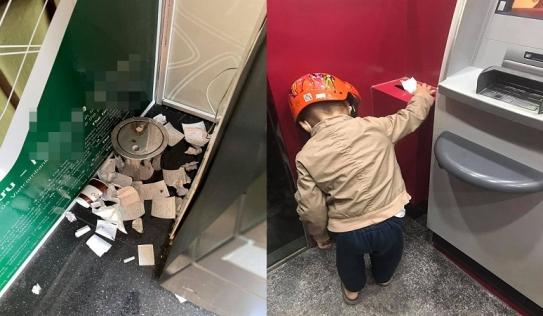 Thấy cảnh tượng chướng mắt ở cây ATM, cậu bé hơn 4 tuổi có hành động khiến nhiều người hổ thẹn