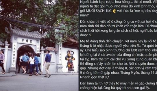 Cô nàng 'ế chỏng chơ' bỗng 'chốt cưới' nhờ dâng lễ chùa Hà 1kg muối: Sợ duyên không đủ mặn
