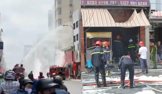 Cháy bình gas quán cơm giữa trung tâm TP.HCM, 4 người bị thương