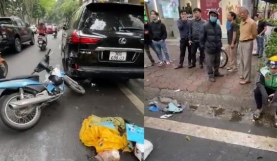 Va vào 'chuyên cơ mặt đất' trên đường phố Hà Nội, shipper bần thần như người mất hồn vì xe hư hỏng nặng