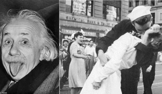 Bí mật của loạt ảnh kinh điển: Albert Einstein lè lưỡi, Marilyn Monroe tốc váy