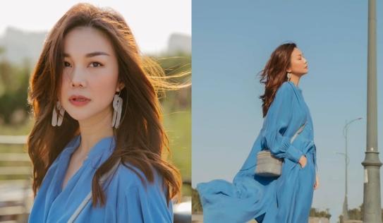 Siêu mẫu Thanh Hằng hóa 'nàng thơ' trong bộ ảnh mới ngược nắng