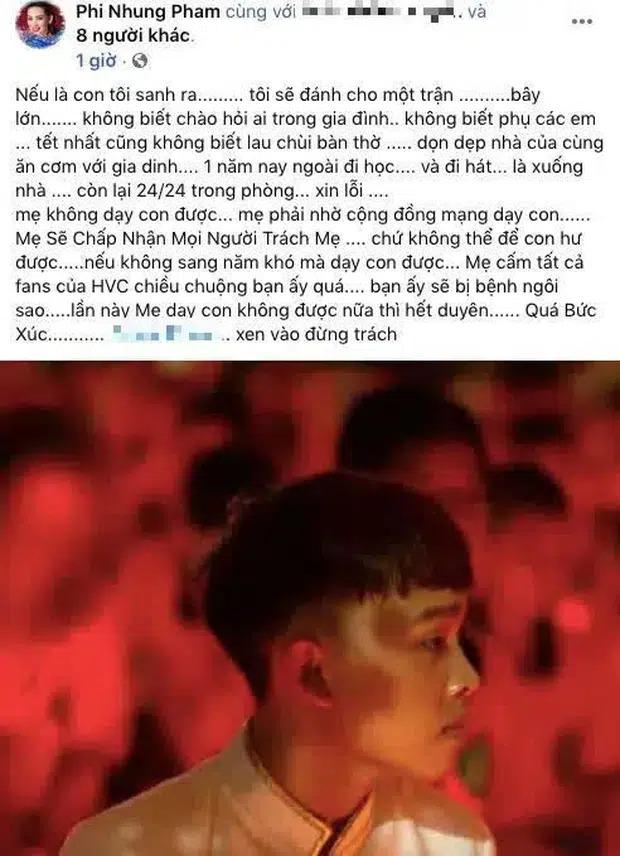 Hồ Văn Cường xin lỗi Phi Nhung sau khi bị nữ ca sĩ tố mắc bệnh ngôi sao, muốn 'từ mặt' nếu tái phạm 1