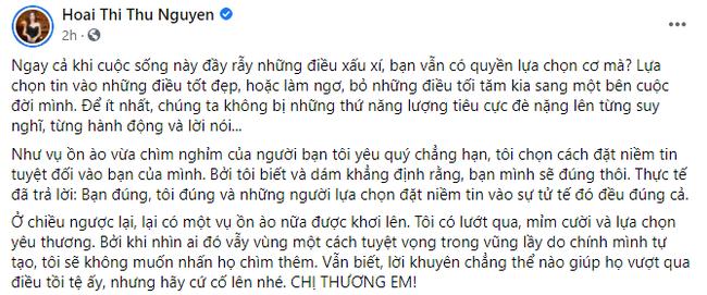 Phản ứng bất ngờ của Hoa hậu Thu Hoài khi bị Vy Oanh 'điểm mặt chỉ tên' 4