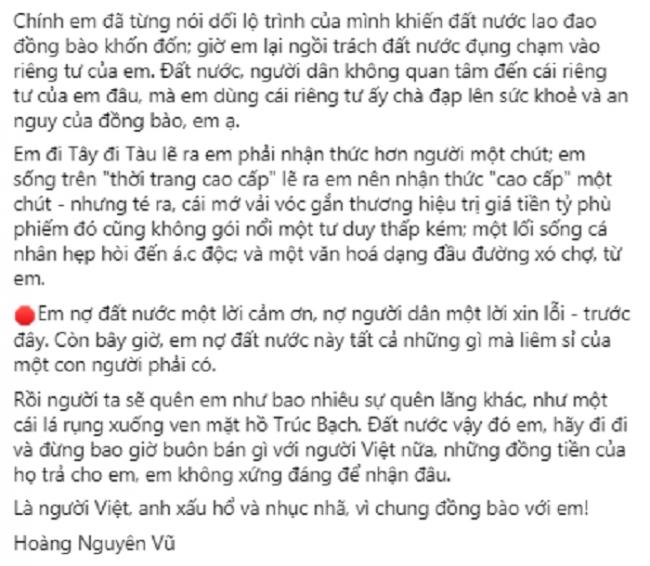 Nhà báo Việt nổi tiếng viết tâm thư gửi 'Nhung 17': 'Anh xấu hổ và nhục nhã vì chung đồng bào với em' 2