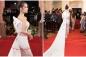 Diện váy xuyên thấu phản cảm, bạn gái Dương Khắc Linh bị chê tơi bời tại giải Mai Vàng