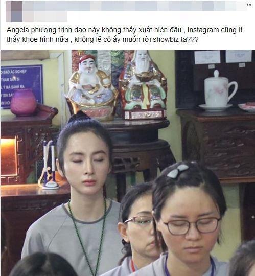 Xôn xao hình ảnh Angela Phương Trinh nương nhờ cửa Phật, rời showbiz 1