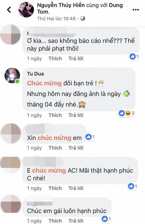 Thúy Hiền vừa đăng ảnh cưới, Tú Dưa đã vào bình luận bất ngờ 2