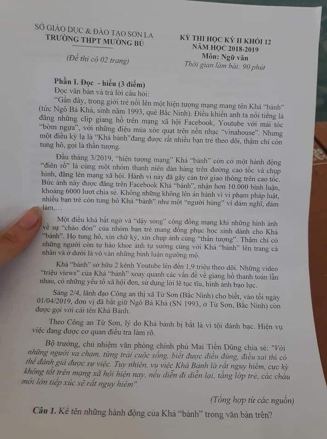 Sơn La đưa hiện tượng Khá Bảnh vào đề thi THPT dài một trang 1