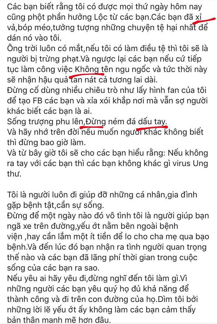 Hồ Ngọc Hà đăng status khiến fan 'đau đầu' vì không hiểu đang viết gì 3