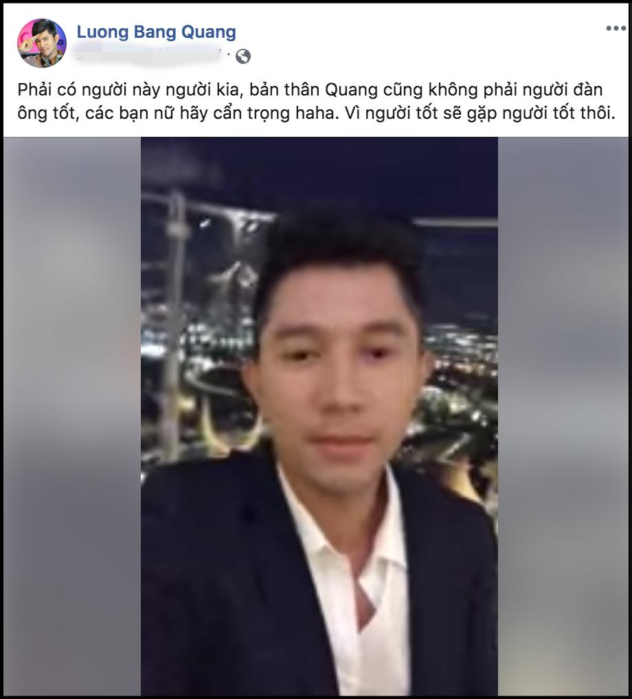 Lương Bằng Quang phản ứng bất ngờ khi bị Ngân 98 tố ngoại tình 1