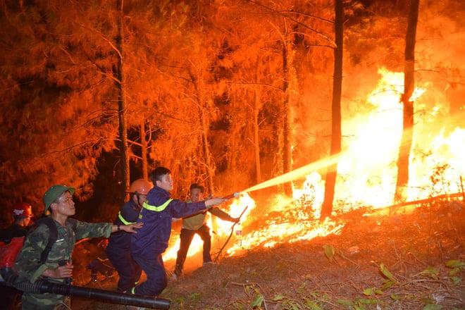 Toàn cảnh vụ cháy rừng ở Hà Tĩnh nhìn từ trên cao 3