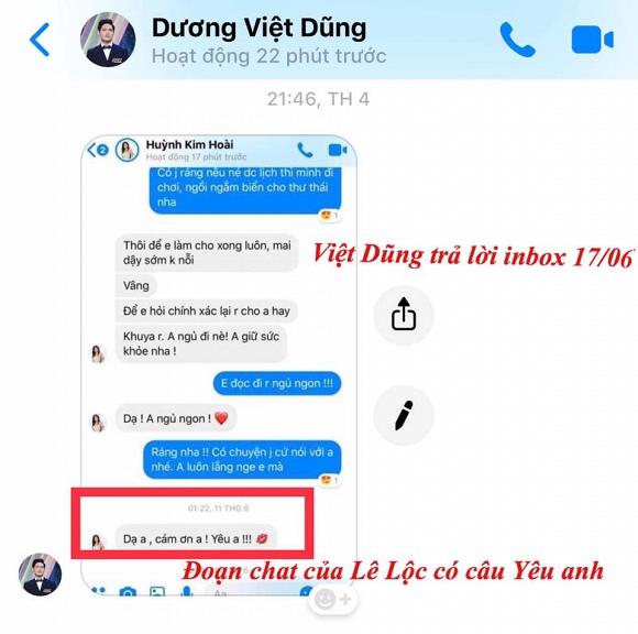 Ái nữ của danh hài được Hoài Linh hỏi cưới lộ tin nhắn với người tình tai tiếng 1
