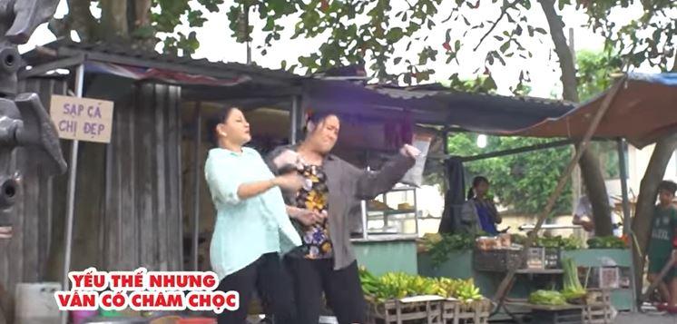 Danh hài Lê Giang suýt hỏng mũi vì 'hỗn chiến' với Hồng Vân 1