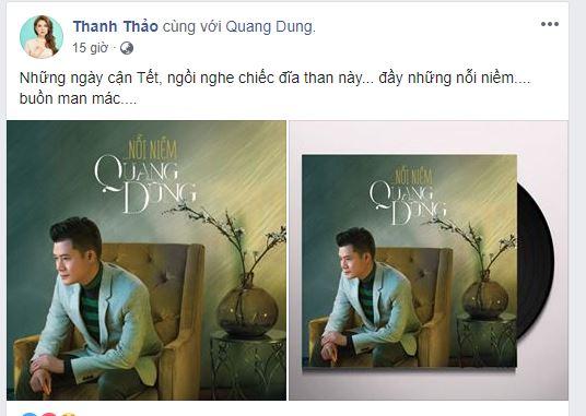 Đã có chồng, Thanh Thảo vẫn công khai dành tình cảm cho người cũ Quang Dũng 1