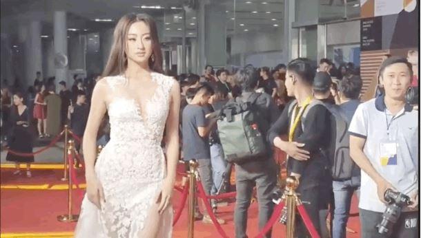 Hoa hậu Lương Thùy Linh gặp sự cố vấp ngã trên thảm đỏ nhưng phản ứng mới bất ngờ 4