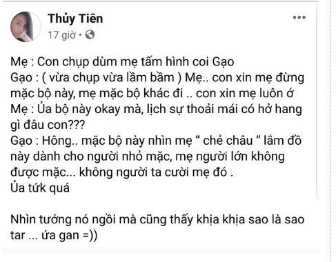 Chán giấu diếm, Thủy Tiên công khai ảnh không che mặt của con gái Bánh Gạo 1