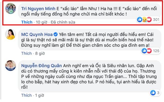 Trương Bảo Như khi bị mẹ Mai Phương tố xấc xược, chồng Ốc Thanh Vân bức xúc đá xéo 2