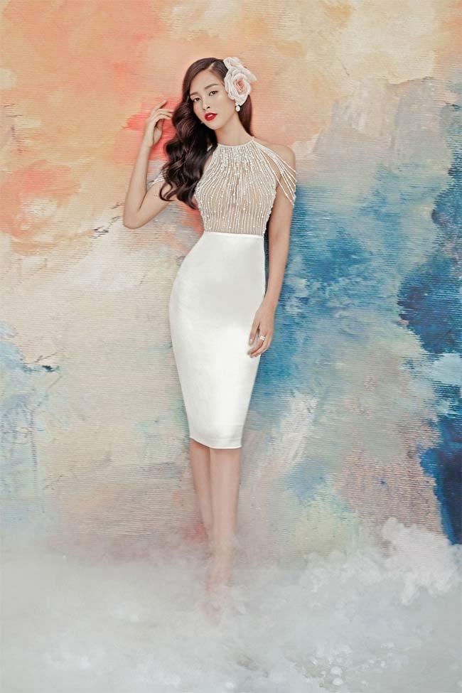 Hoa hậu Tiểu Vy diện váy xuyên thấu khoe vòng 1 gợi cảm 5