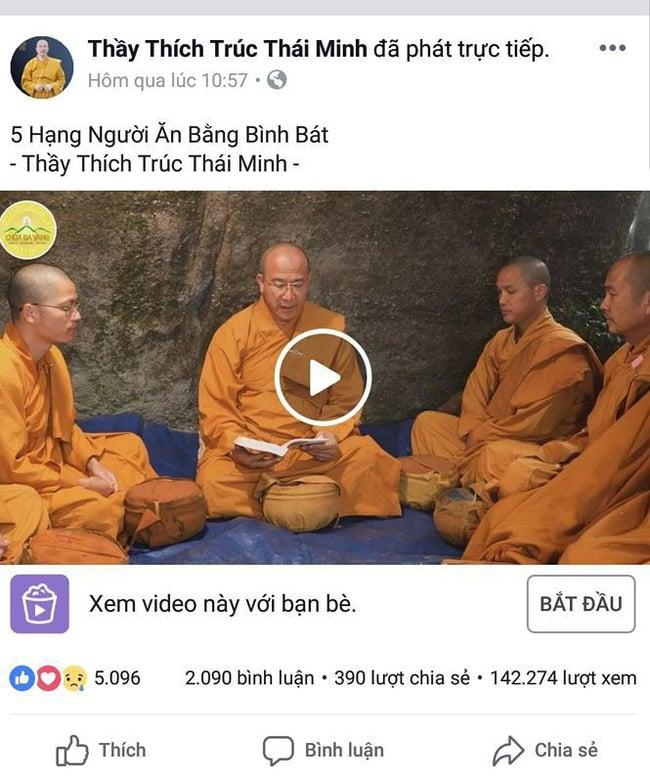 Giữa tâm bão dư luận, trụ trì chùa Ba Vàng vẫn đăng đàn facebook 3