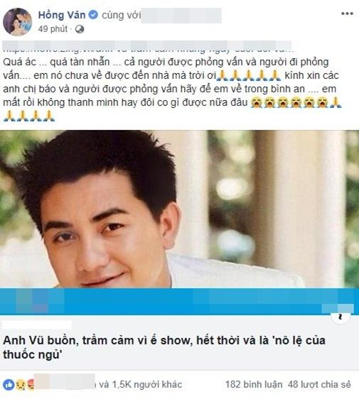 Anh Vũ bị nói 'buồn, ế show, hết thời', NSND Hồng Vân gay gắt: 'Quá ác, quá tàn nhẫn' 2