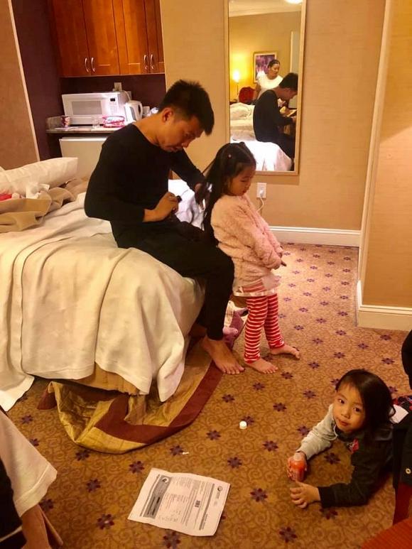 3 con của Ốc Thanh Vân ngủ vạ vật tại sân bay khiến fan xót xa 5