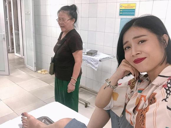 MC Hoàng Linh bị tai nạn phải nhập viện khiến fan hốt hoảng 2